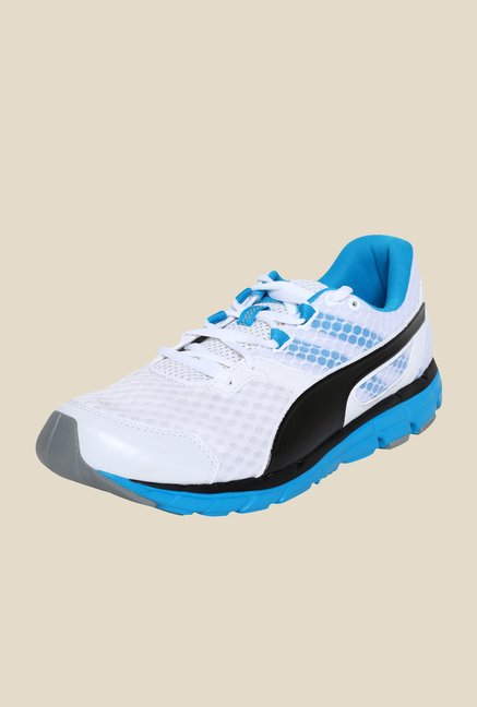 Puma Poseidon V2 White & Atomic Blue Running Shoes