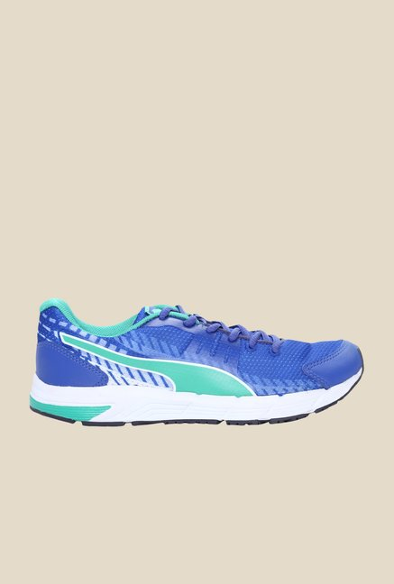 Puma Sequence V2 Wns DP Dazzling Blue & Mint Running Shoes