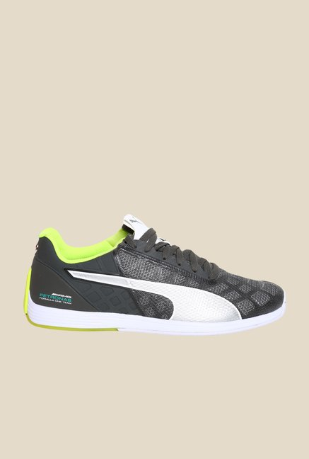 Puma MAMGP EvoSpeed Mercedes Dark Shadow & Silver Sneakers