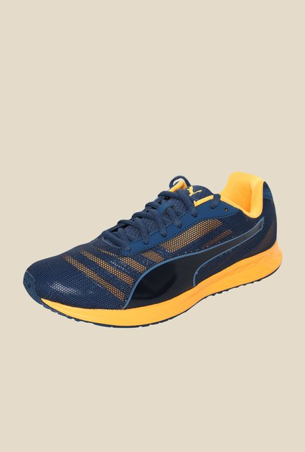 Puma Burst Teal Blue & Orange Running Shoes