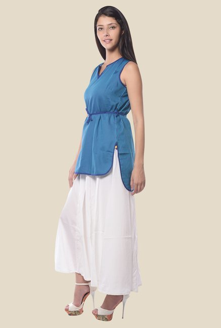 Aurelia Blue Cotton Top