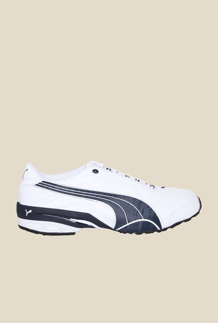 Puma Tazon III DP White & New Navy Running Shoes
