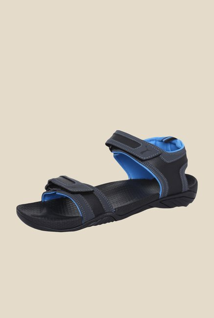 Puma K9000 XC Black & French Blue Floater Sandals
