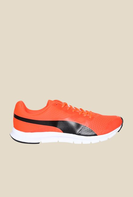 Puma Flexracer DP Red Blast & Black Running Shoes