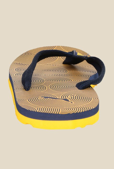 Puma Epic Flip V2 Graphic Navy & Gold Fusion Slippers