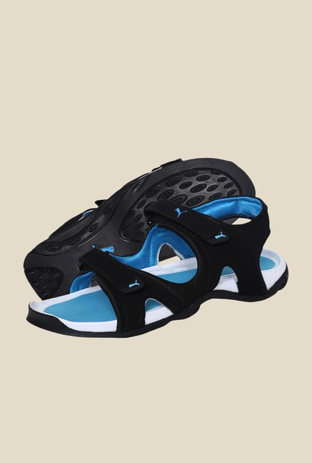 Puma Aripon 3 DP Black & Atomic Blue Floater Sandals