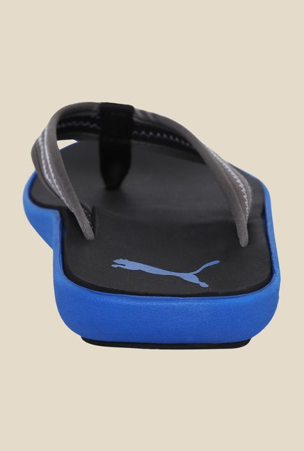 Puma Bow Dark Shadow & Blue Slippers
