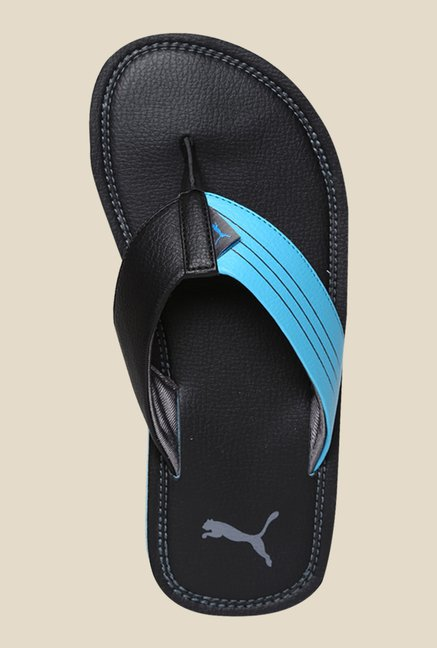 Puma Ketava Duo DP Black & Blue Atoll Slippers