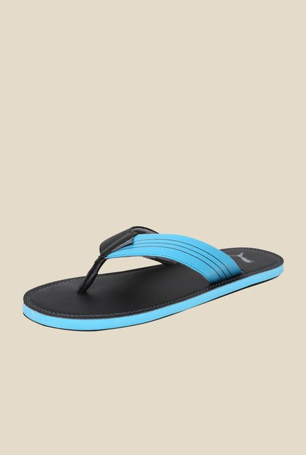 2068a25253b0 Buy Puma Ketava Duo DP Black   Blue Atoll Slippers Online at best price at  TataCLiQ