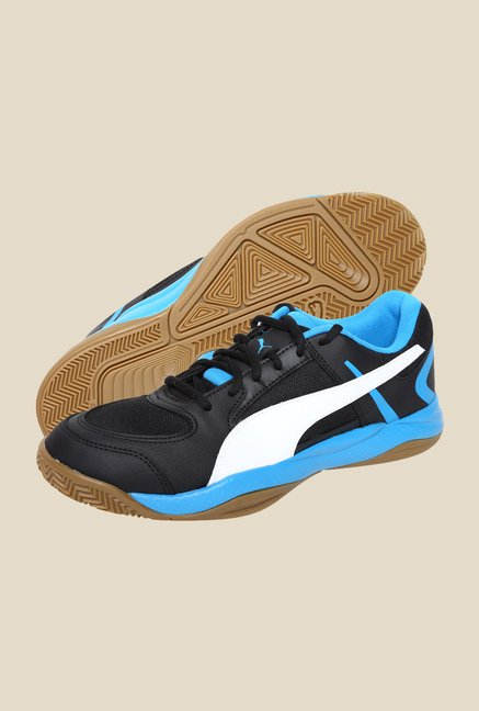 Puma Veloz Indoor II Black & Cloisonne Sports Shoes
