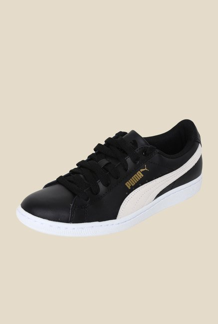 Puma Vikky LS Black & White Sneakers