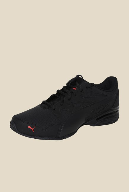 Puma Tazon Modern SL Black & Red Running Shoes