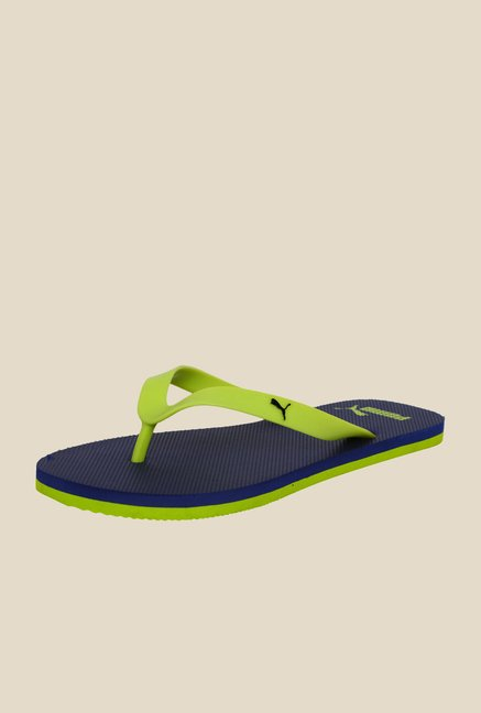 Puma Odius DP Lime Punch & Navy Slippers