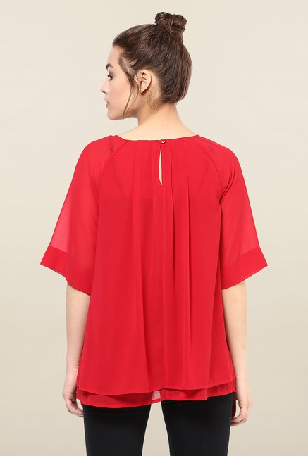 Femella Red Layered Top