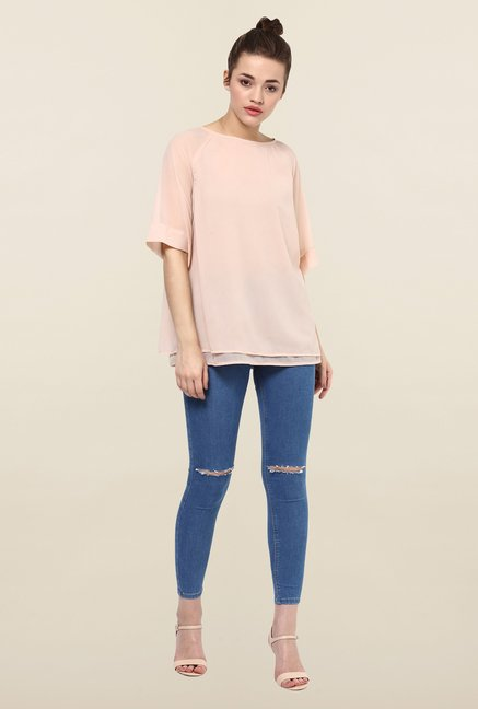 Femella Blush Pink Layered Top