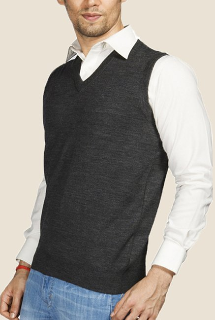 Raymond Grey Solid Sweater