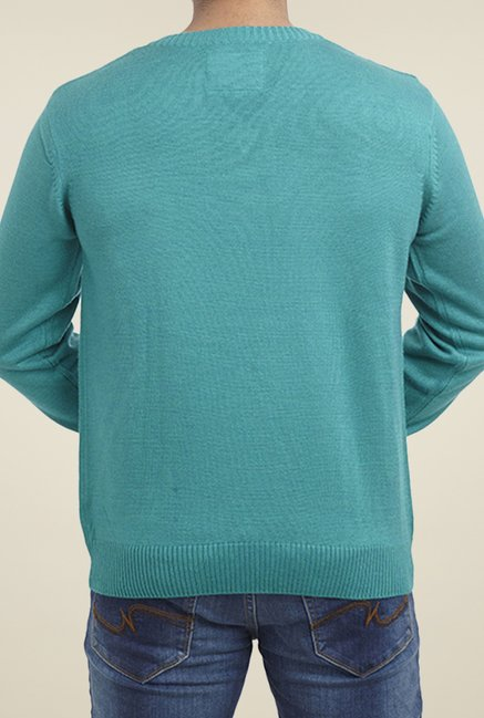 Parx Turquoise Solid Sweater