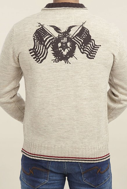 Parx Beige Solid Sweater