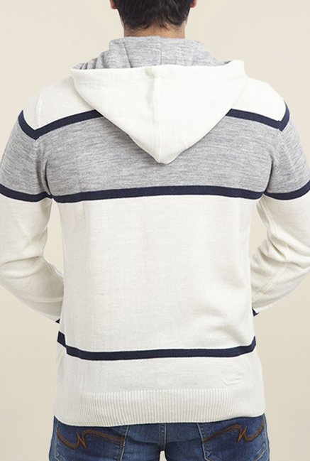 Parx White Striped Sweater