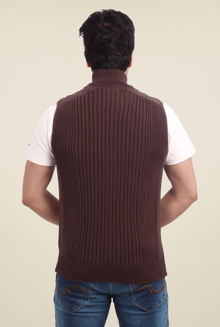 Parx Brown Solid Sweater