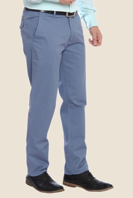 ColorPlus Blue Solid Trouser