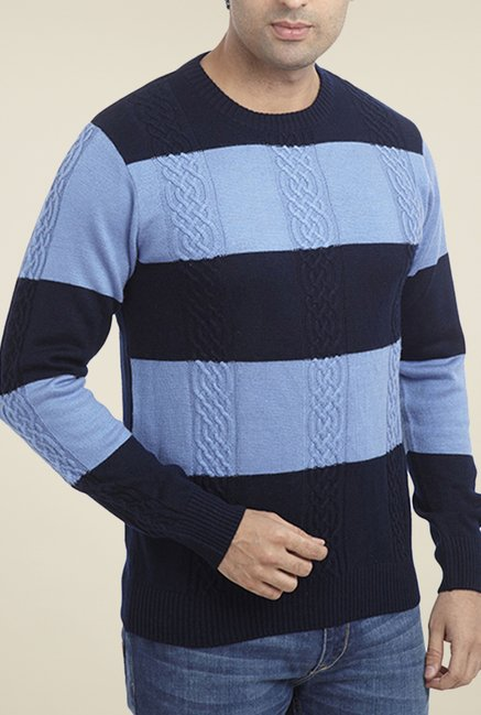 Parx Navy Striped Sweater