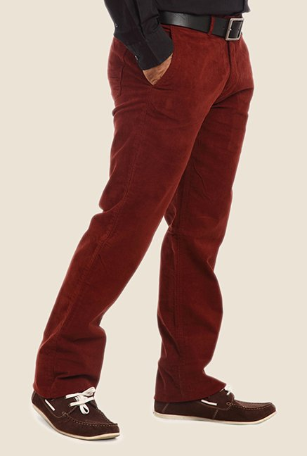 ColorPlus Maroon Solid Trouser