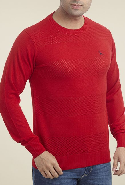 Parx Red Solid Sweater