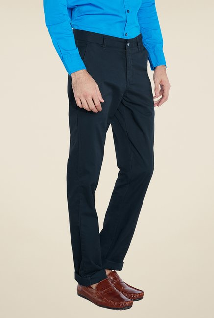 Parx Green Solid Trouser
