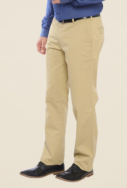ColorPlus Beige Solid Trouser