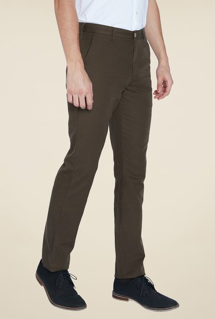 Parx Brown Solid Trouser