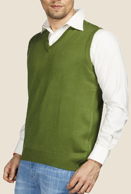 Raymond Green Solid Sweater