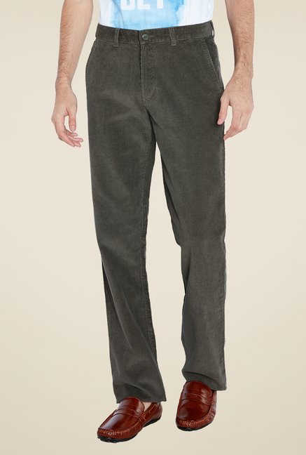 ColorPlus Olive Solid Trouser