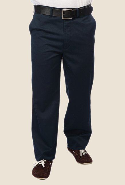 ColorPlus Navy Solid Trouser
