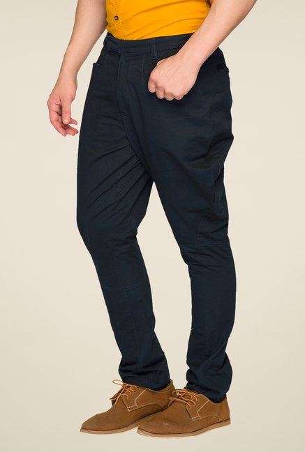 Parx Navy Solid Trouser