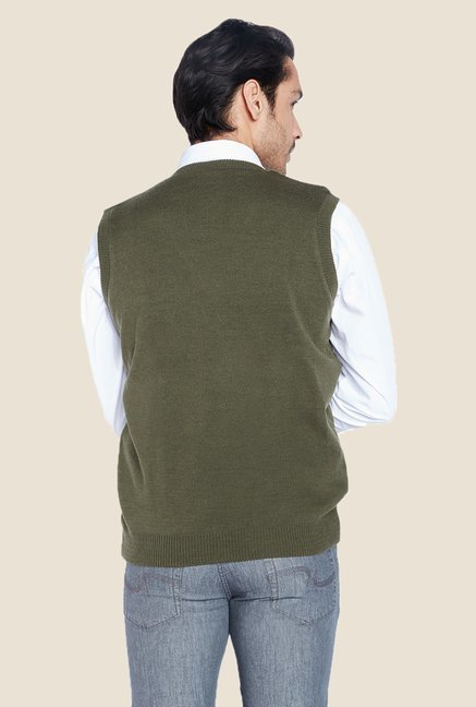 Raymond Olive Solid Sweater
