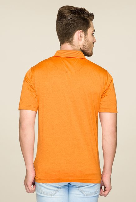 ColorPlus Orange Solid Polo T Shirt