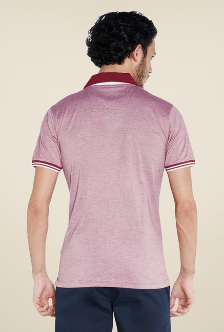 Raymond Pink Solid Polo T Shirt