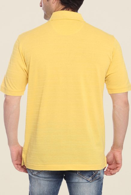 ColorPlus Yellow Striped Polo T Shirt
