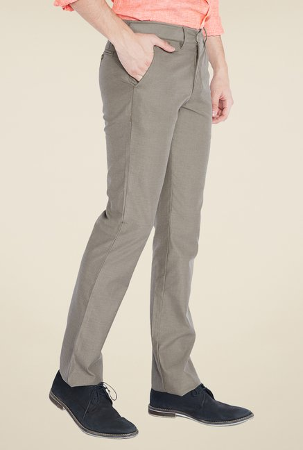 Parx Grey Solid Trouser