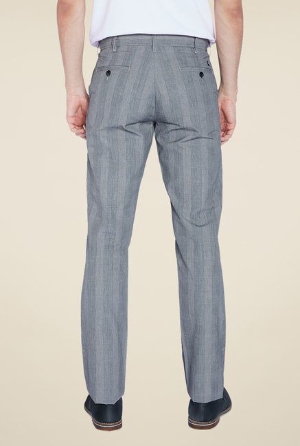 Parx Grey Striped Trouser