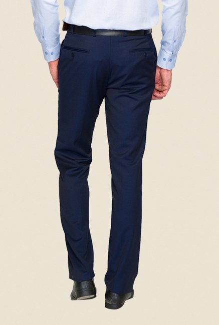 Raymond Navy Solid Trouser