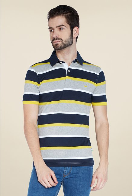 Park Avenue Multicolor Striped Polo T Shirt