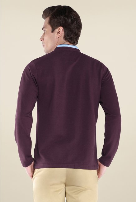 Park Avenue Purple Solid T Shirt
