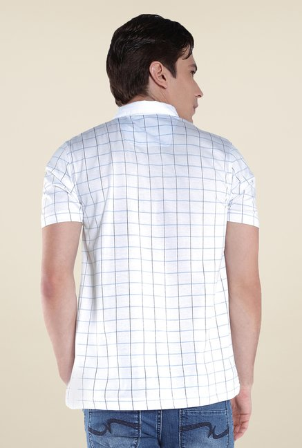 Raymond White Checks Polo T Shirt