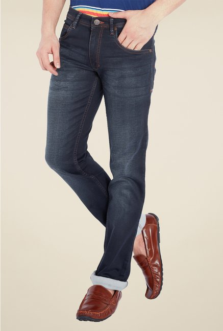 Park Avenue Navy Lightly Washed Jeans