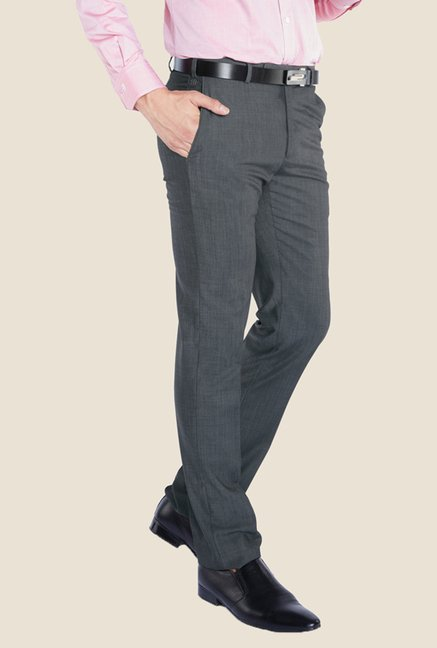 Raymond Grey Solid Trouser