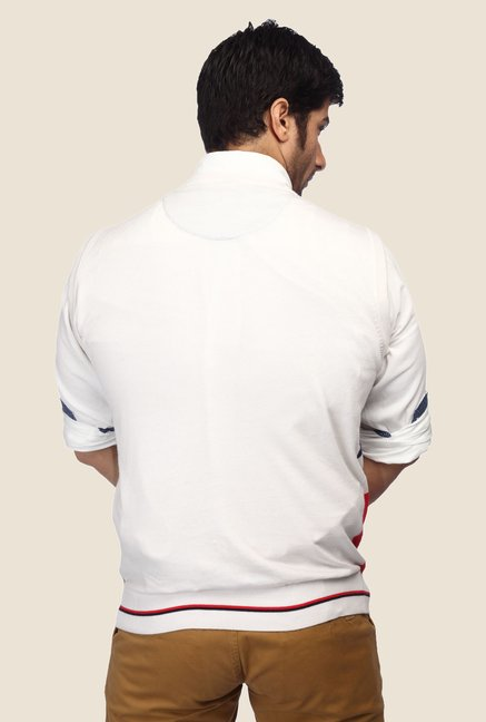 ColorPlus White Textured T Shirt