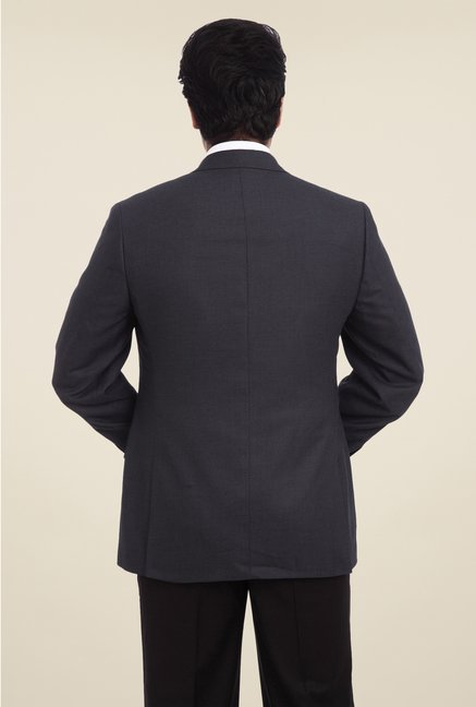 Park Avenue Grey Solid Blazer