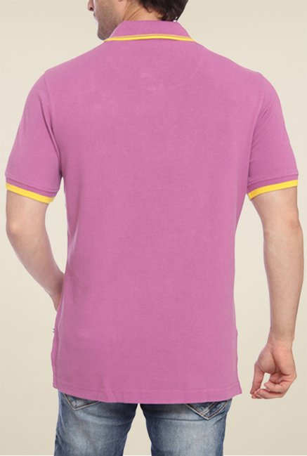 Park Avenue Purple Solid Polo T Shirt